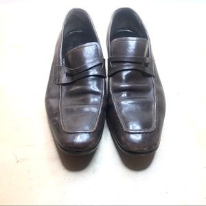 Gucci loafers size 42 brown leather